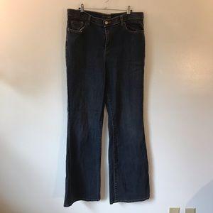 Venezia Wide Leg Darkwash Jeans in size 16 Tall